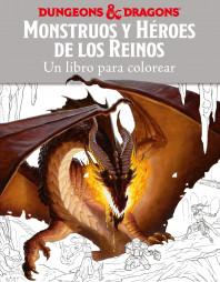 Monstruos y héroes de los reinos. Un libro para colorear
