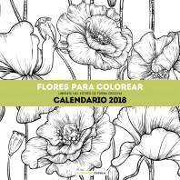Calendario Flores para colorear 2018